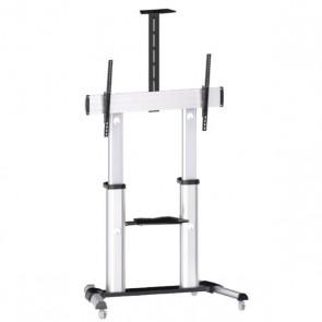 """SUNNE by Elite Screens pojízdný TV stolek pro LCD a TV 60 - 100""""/ nastavitelná výška/ max. VESA 600x1000/ hliníkový S22"""