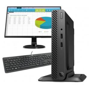 HP 260 G3 DM/ i3-7130U/ 4GB DDR4/ 500GB (7200)/ Intel HD 620/ Wi-Fi/ W10P/ černý + monitor N246v 4YV72EA#BCM