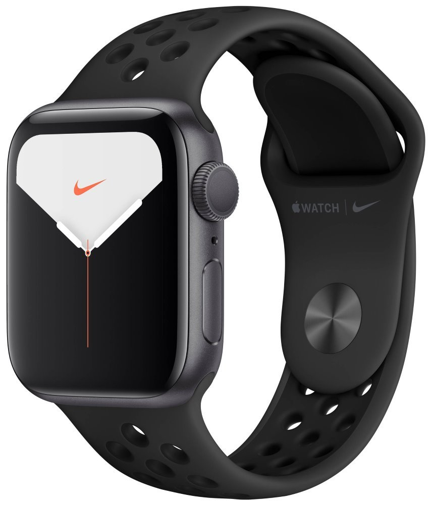 Apple Watch Nike Series 5 GPS, 40mm Space Grey Aluminium Case with Anthracite/Black Nike Sport Band mx3t2hc/a