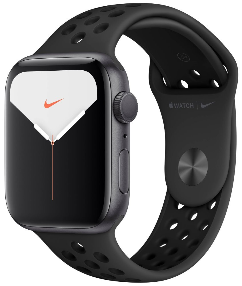 Apple Watch Nike Series 5 GPS, 44mm Space Grey Aluminium Case with Anthracite/Black Nike Sport Band mx3w2hc/a