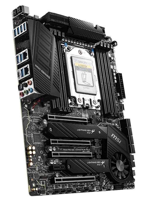 MSI TRX40 PRO 10G/ AMD TRX40 / TRX4 / 8x DDR4 DIMM / 2x M.2 / ATX TRX40 PRO 10G