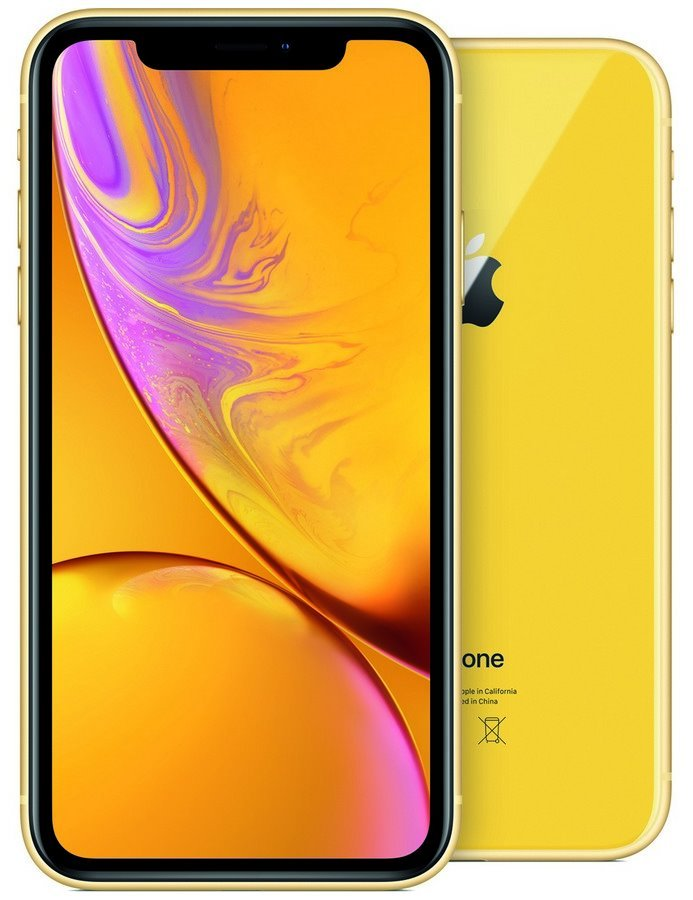 "Apple iPhone XR 64GB Yellow   6,1"" IPS Liquid Retina HD/ LTE/ Wifi AC/ NFC/ IP67/ iOS 12 mry72cn/a"