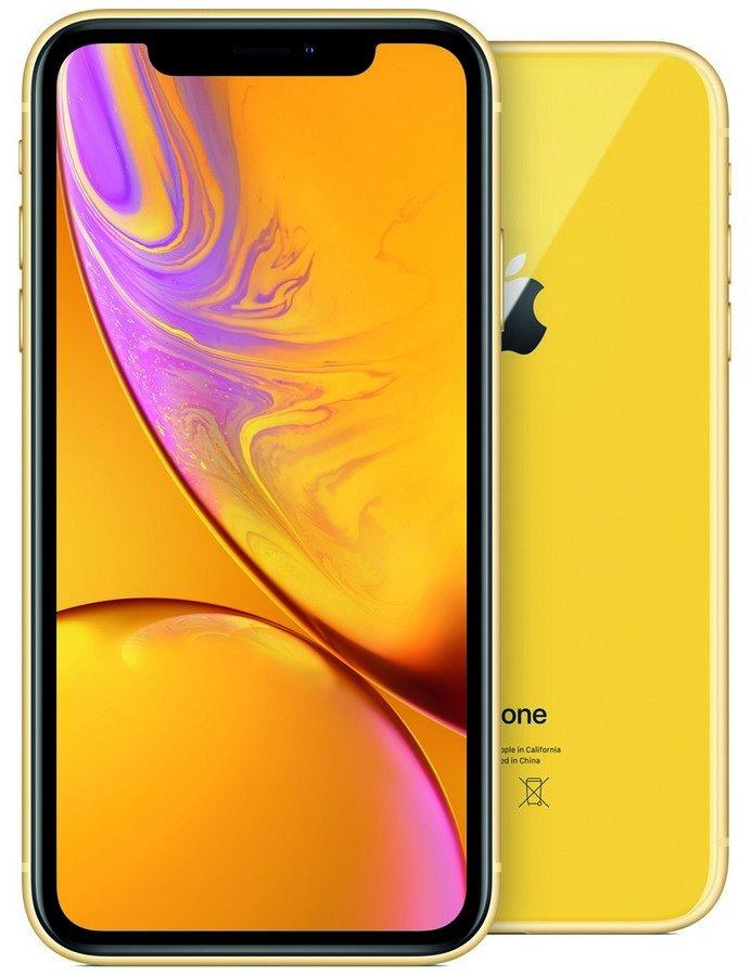 "Apple iPhone XR 128GB Yellow   6,1"" IPS Liquid Retina HD/ LTE/ Wifi AC/ NFC/ IP67/ iOS 12 mryf2cn/a"
