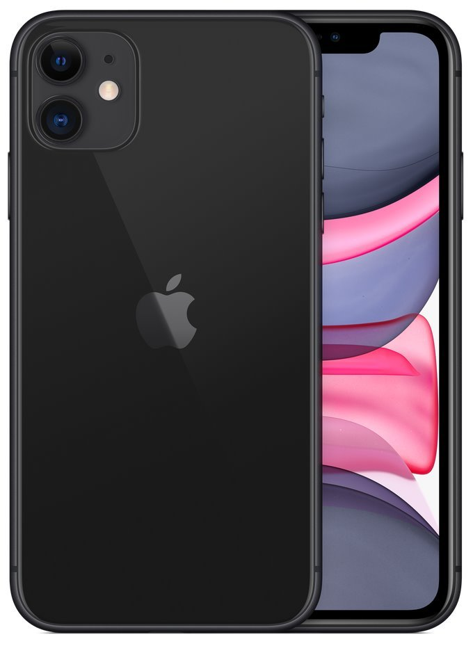 "Apple iPhone 11 64GB Black   6,1"" IPS/ 4GB RAM/ LTE/ IP68/ iOS 13 mwlt2cn/a"