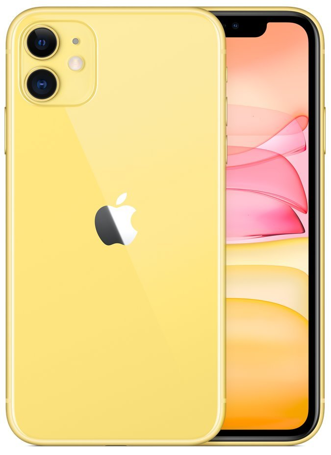 "Apple iPhone 11 64GB Yellow   6,1"" IPS/ 4GB RAM/ LTE/ IP68/ iOS 13 mwlw2cn/a"