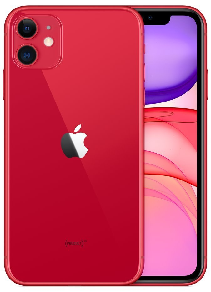 "Apple iPhone 11 128GB (PRODUCT)RED   6,1"" IPS/ 4GB RAM/ LTE/ IP68/ iOS 13 mwm32cn/a"