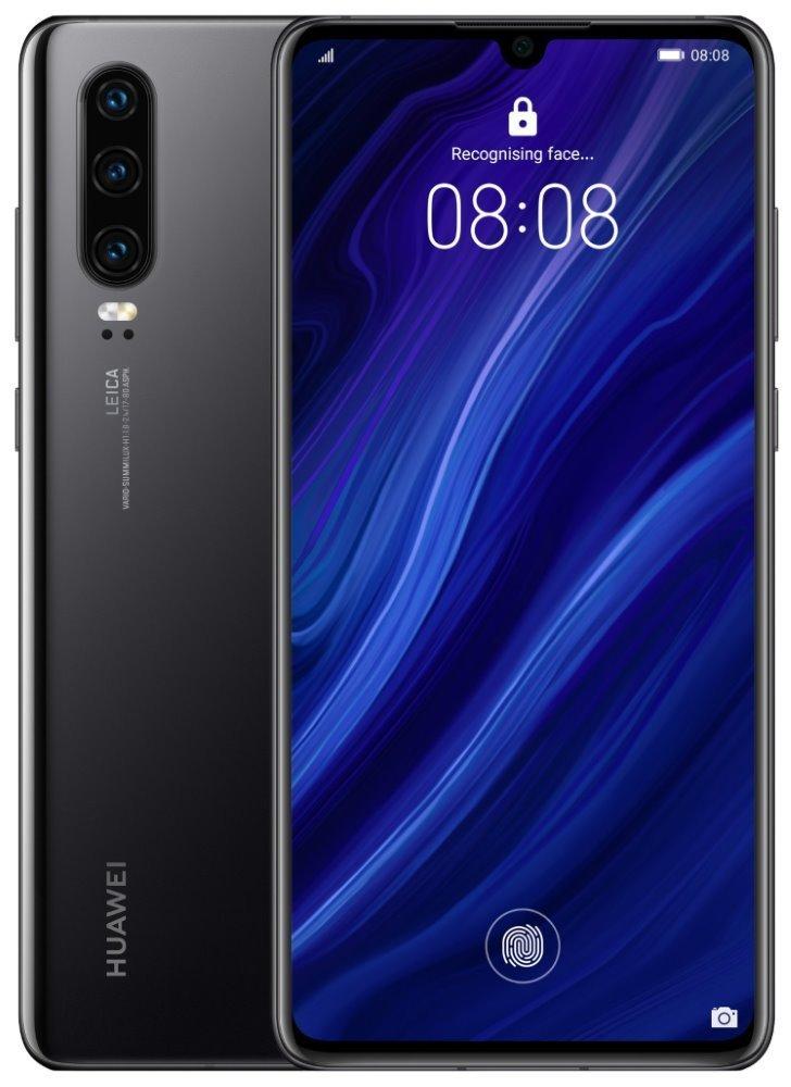 "HUAWEI P30 - Black   6,1"" FHD+/ 128GB/ 6GB RAM/ foto zadní 40+16+8Mpx, přední 32Mpx/ LTE/ Android 9 SP-P30DSBOM"