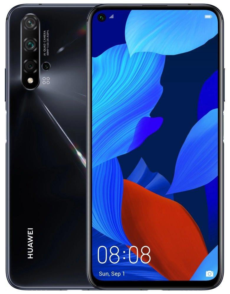 "HUAWEI Nova 5T - Black   6,26"" LTPS/ 128GB/ 6GB RAM/ Dual SIM/ LTE/ Android 9 SP-N5T128DSBOM"