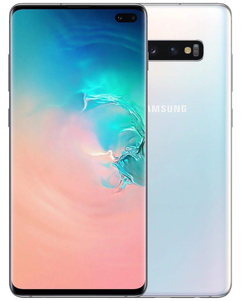 "Samsung Galaxy S10+ (G975) - white   6,4"" QHD+/ DualSIM/ 128GB/ 8GB RAM/ IP68/ LTE/ Android 9 SM-G975FZWDXEZ"