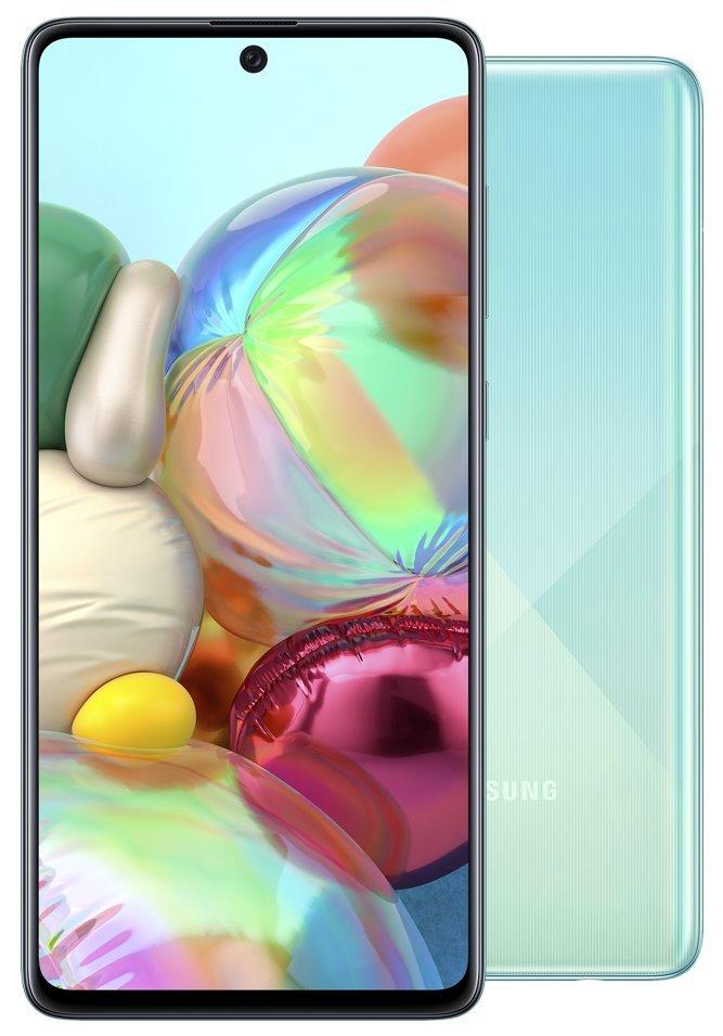 """Samsung Galaxy A71 (A715) - blue   6,7"""" AMOLED/ DualSIM/ 128GB/ 6GB RAM/ LTE/ Android 10 SM-A715FZBUXEZ"""