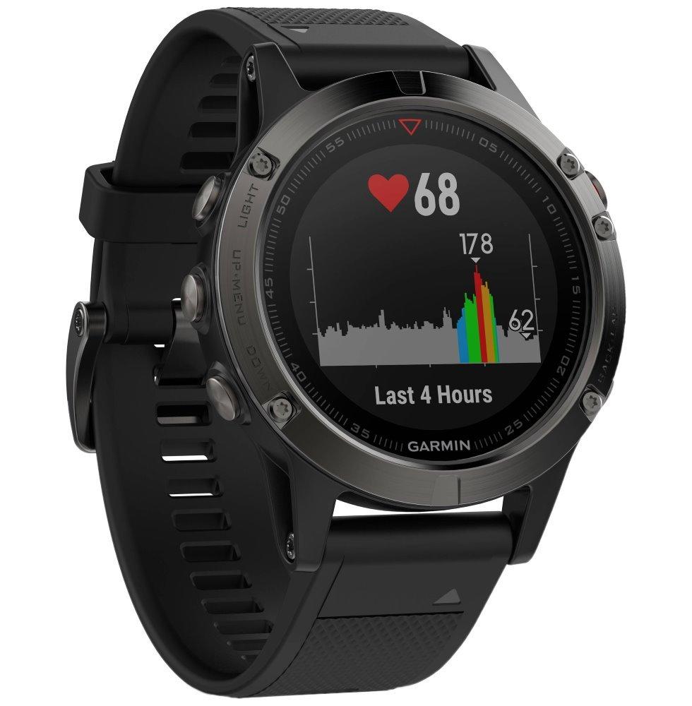 GARMIN GPS chytré hodinky fenix5 Sapphire Black Optic, Black band 010-01688-11