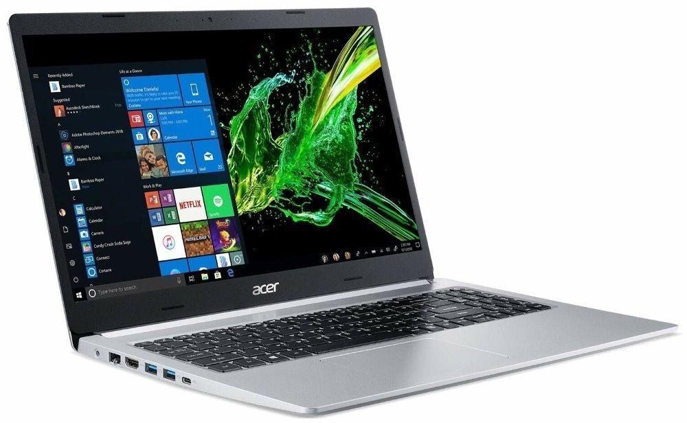 """Acer Aspire 5 (A515-54G-500P) i5-10210U / 8GB / 1TB / 15,6"""" FHD IPS LED LCD / GF MX250 2G / W10H/ stříbrný NX.HNGEC.001"""
