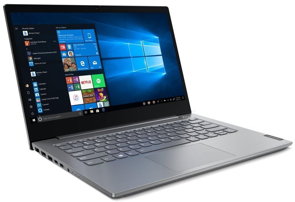 """Lenovo ThinkBook 14-iiL/ i5-1035G4/ 8GB DDR4/ 256GB SSD/ Intel Iris Plus/ 14"""" FHD IPS/ W10P/ Šedý 20SL0022CK"""