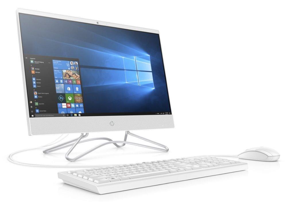 """HP 200 G3 AiO/ i3-8130U/ 4GB DDR4/ 128GB SSD/ Intel UHD 620/ 21,5"""" FHD IPS/DVD-RW/ W10P/ bílý+kbd,myš 3VA48EA#BCM"""