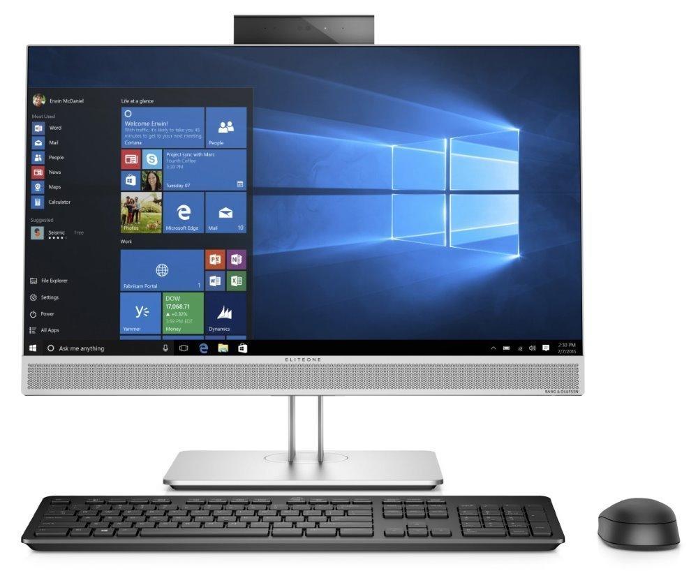 "HP EliteOne 800 G5 AiO/ i5-9500/ 8GB DDR4/ 256GB SSD/ Intel UHD 630/ 23,8"" FHD IPS/ DVD-RW/ W10P/ Stříbrný +kbd,myš 7XK55AW#BCM"