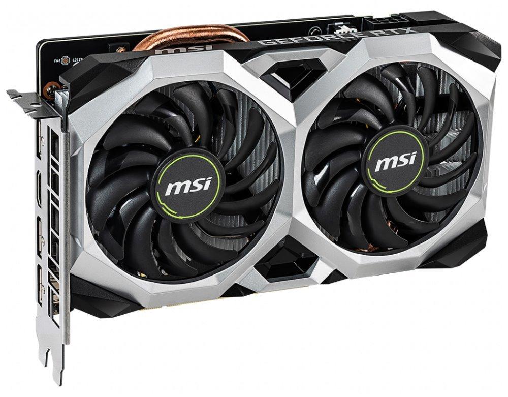MSI GeForce RTX 2060 VENTUS XS 6G OC / 6GB GDDR6 / PCI-E / HDMI / 3x DP RTX 2060 VENTUS XS 6G OC